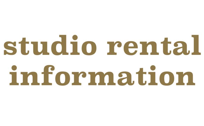 studio rental-スタジオレンタル- ご利用時間更新のお知らせ